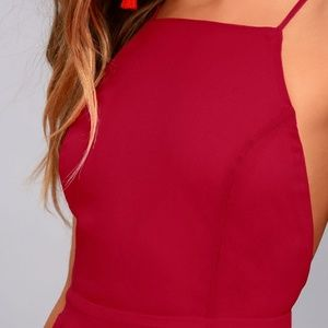 Lulu's Red Strappy Crossback Dress